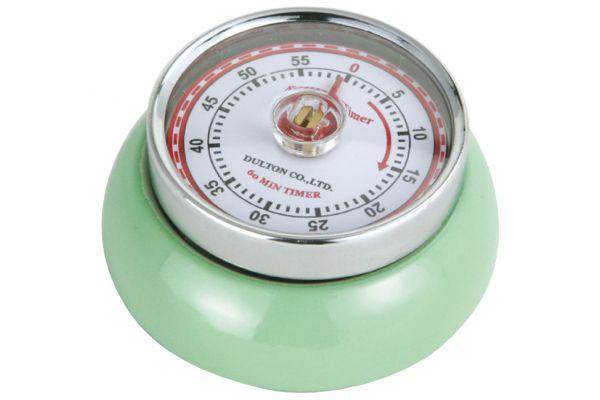 Large image of Zassenhaus Mint Green Retro Kitchen Timer - M072365