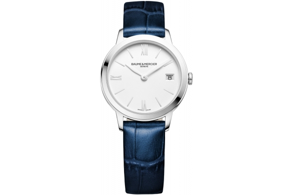 Large image of Baume & Mercier Classima Quartz White Dial Womens Watch - M0A10353