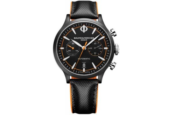 Large image of Baume & Mercier Capeland Automatic Chronograph Black Dial Mens Watch - M0A10452