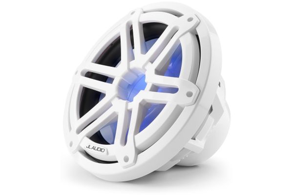 """JL Audio M3 10"""" Gloss White Marine Subwoofer Driver With Built-In RGB LED Lighting - 93531"""