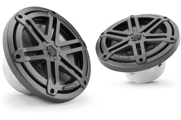 "Large image of JL Audio M3 7.7"" Gunmetal Coaxial Marine Speakers - 93520"