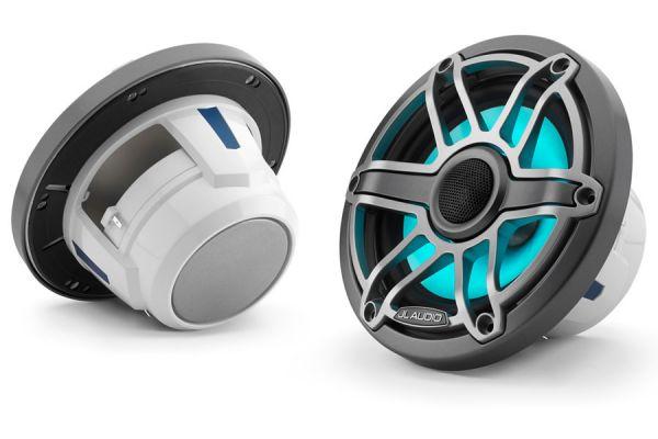 """JL Audio M-Series 6.5"""" Gunmetal Marine Coaxial Speakers - 93715"""