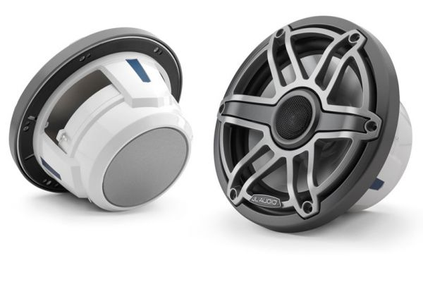 "Large image of JL Audio M6 Series 8.8"" Gunmetal Marine Coaxial Speakers (Pair) - 93610"