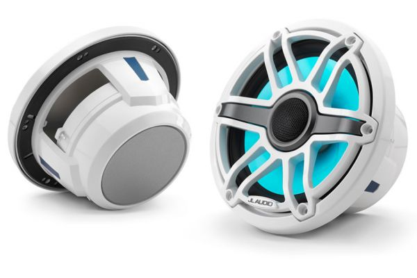 "JL Audio M-Series 7.7"" Gloss White Marine Coaxial Speakers - 93602"