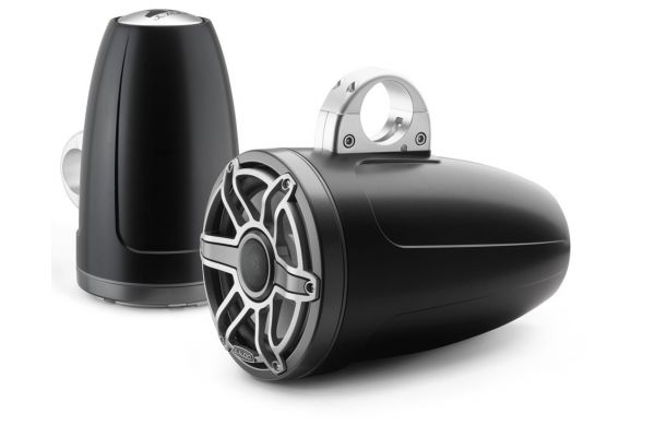"""Large image of JL Audio M6 Series 8.8"""" Satin Black Enclosed Tower Coaxial System (Pair) - 93666"""