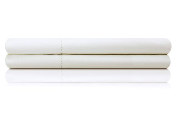 Large image of Malouf Woven White California King Italian Artisan Sheet Set - MA04CKWHIS