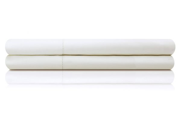 Large image of Malouf Woven White King Italian Artisan Sheet Set - MA04KKWHIS