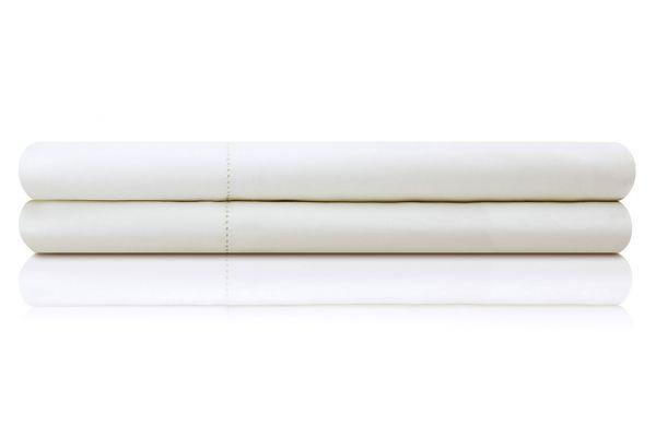 Large image of Malouf Woven White Twin Italian Artisan Sheet Set - MA04TTWHIS