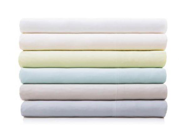 Large image of Malouf Woven White Rayon From Bamboo King Sheet Set - MA25KKWHBS