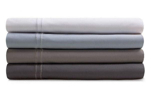 Malouf Woven White Split King Supima Premium Cotton Sheet Set - MAS6SKWHSS