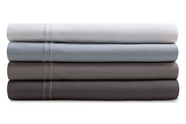 Large image of Malouf Woven Smoke California King Supima Premium Cotton Sheet Set - MAS6CKSMSS