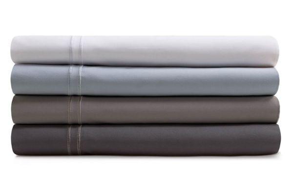 Large image of Malouf Woven White California King Supima Premium Cotton Sheet Set - MAS6CKWHSS