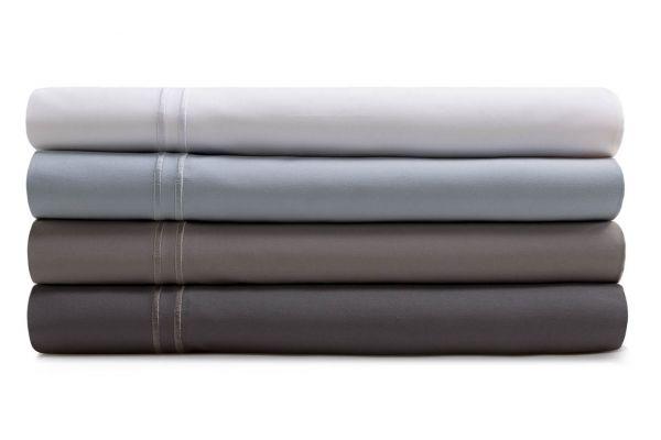 Large image of Malouf Woven Charcoal Queen Supima Premium Cotton Sheet Set - MAS6QQCCSS