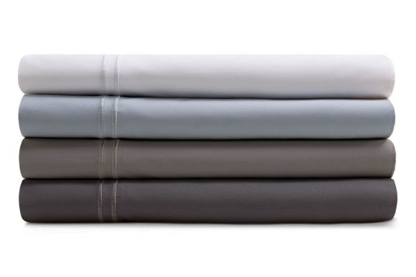 Large image of Malouf Woven White Queen Supima Premium Cotton Sheet Set - MAS6QQWHSS