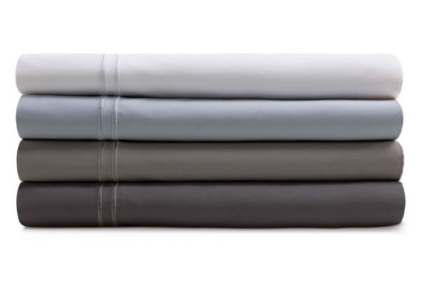 Large image of Malouf Woven White Twin XL Supima Premium Cotton Sheet Set - MAS6TXWHSS