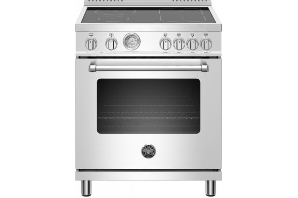 "Large image of Bertazzoni Master Series 30"" Stainless Steel Freestanding Induction Range - MAST304INMXE"
