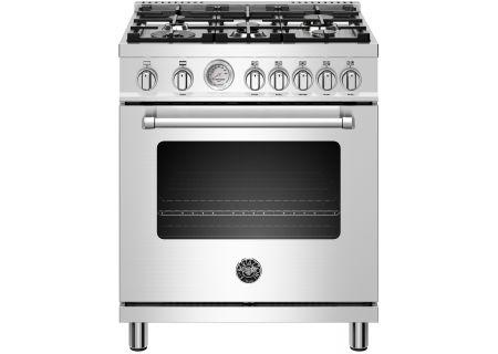 "Bertazzoni Master Series 30"" Stainless Steel Freestanding Gas Range - MAST305GASXE"