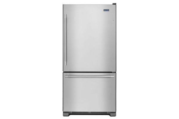 Maytag 19 Cu. Ft. Stainless Steel Bottom Freezer Refrigerator  - MBF1958FEZ