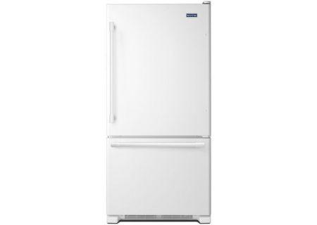Maytag 22 Cu. Ft. White Bottom Freezer Refrigerator - MBF2258FEW