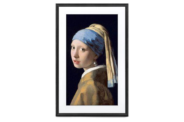 "Large image of Meural Canvas II 21"" Black Digital Picture Frame - MC321BL-100PAS"
