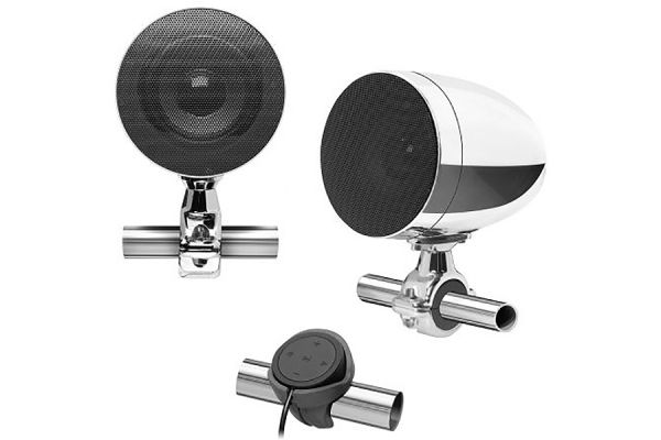"""Large image of BOSS Audio Systems 3"""" Chrome Motorcycle Speakers - MC625BA"""