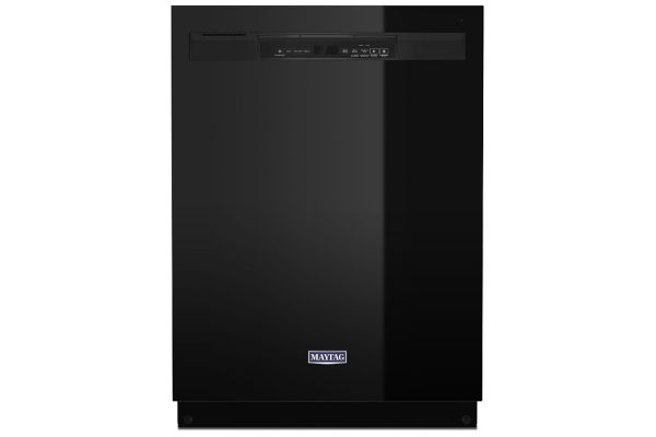 Large image of Maytag Black Dishwasher With Stainless Steel Tub And Dual Power Filtration - MDB4949SKB