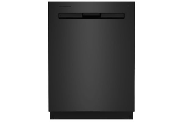 """Maytag 24"""" Cast Iron Black Top Control Dishwasher With Third Level Rack And Dual Power Filtration - MDB8959SKK"""