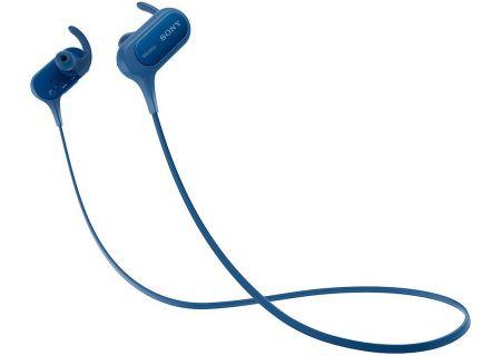 Sony Extra Bass Sport Blue In-Ear Bluetooth Headphones - MDRXB50BS/L