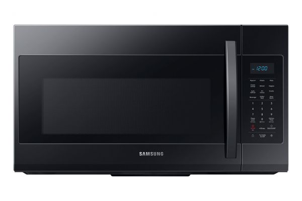 Large image of Samsung 1.9 Cu. Ft. Black Over-The-Range Microwave With Sensor Cooking - ME19R7041FB/AA