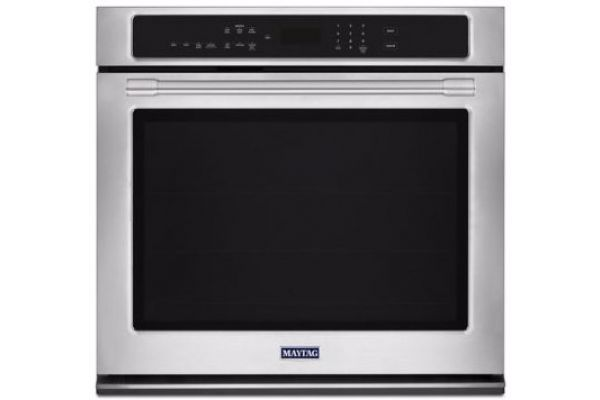 "Large image of Maytag 27"" Fingerprint Resistant Stainless Steel Convection Electric Wall Oven - MEW9527FZ"