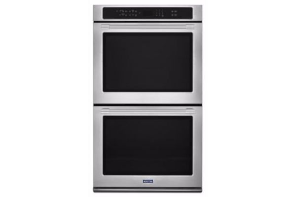 """Large image of Maytag 27"""" Fingerprint Resistant Stainless Steel Convection Double Electric Wall Oven - MEW9627FZ"""