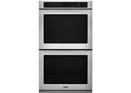 """Maytag 30"""" Fingerprint Resistant Stainless Steel Convection Double Electric Wall Oven - MEW9630FZ"""