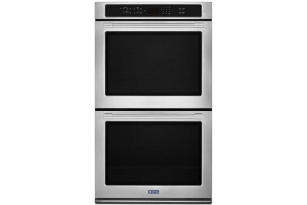 "Maytag 30"" Fingerprint Resistant Stainless Steel Convection Double Electric Wall Oven - MEW9630FZ"