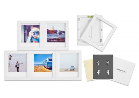Magnaframe Magnetic 6-Pack White Picture Frame for Polaroid Originals - MF01002