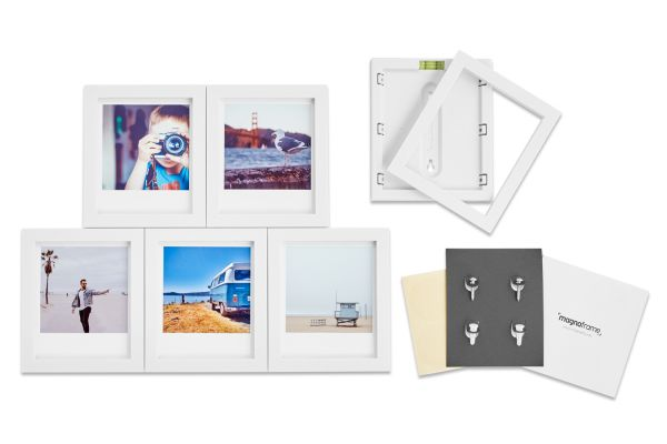 Magnaframe Magnetic 6-Pack White Picture Frame for Polaroid Originals - MF01002