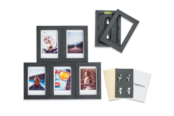 Magnaframe Magnetic 6-Pack Black Picture Frame for Fuji Instax Mini - MF02001