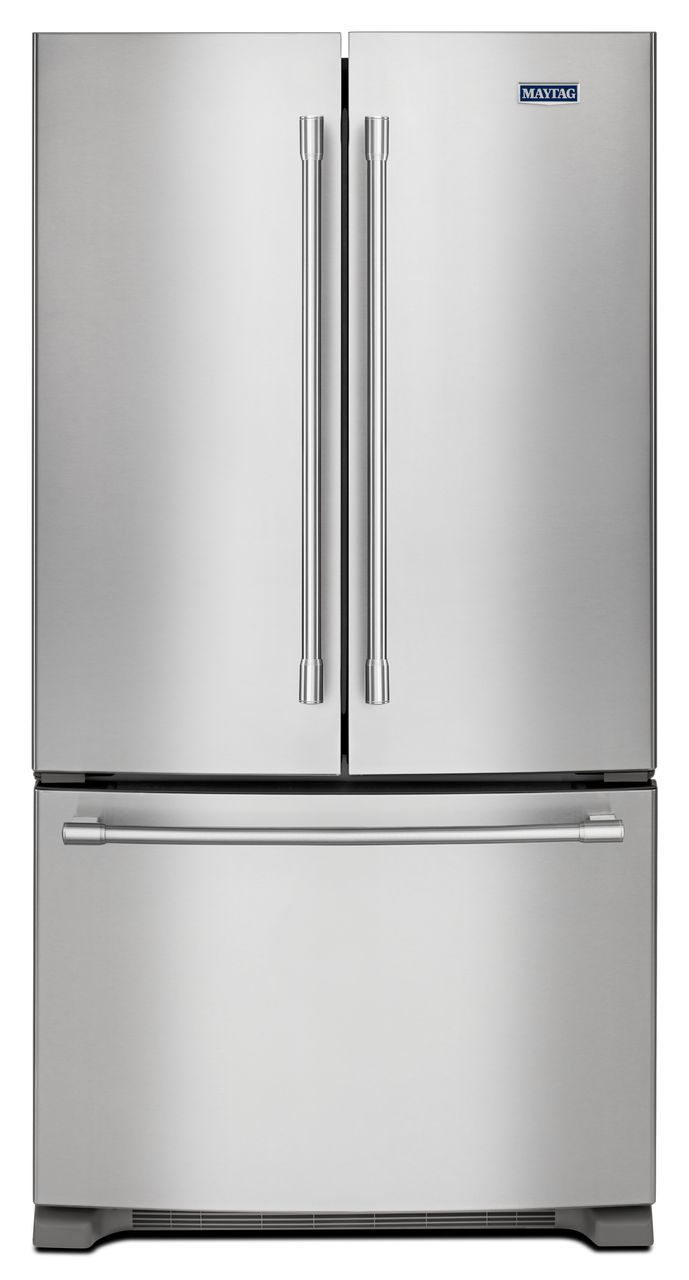 Maytag 20 Cu Ft Stainless Steel Counter Depth French Door Refrigerator Mfc2062fez