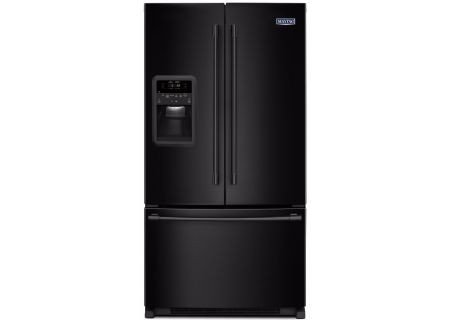 Maytag 22 Cu. Ft. Black French Door Refrigerator - MFI2269FRB