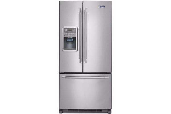 """Large image of Maytag 33"""" Fingerprint Resistant Stainless Steel French Door Refrigerator With Beverage Chiller Compartment - MFI2269FRZ"""