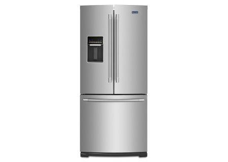 Maytag 20 Cu. Ft. Stainless Steel French Door Bottom Freezer Refrigerator  - MFW2055FRZ