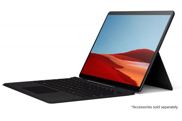 "Large image of Microsoft Surface Pro X Matte Black 13"" Touch-Screen 16GB Memory 512GB SSD WiFi + 4G LTE - MJU00001"