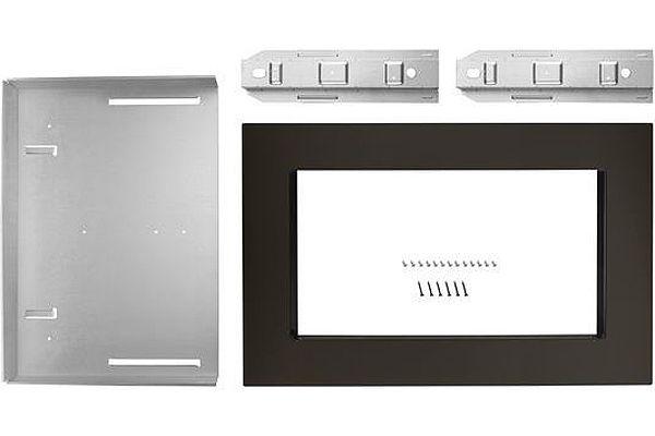 """KitchenAid 30"""" Black Stainless Steel Trim Kit For Countertop Microwave Oven - MK2160AV"""