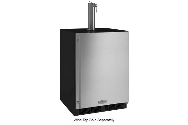 """Large image of Marvel 24"""" Stainless Steel Right Hinge Built-In Keg Refrigerator For Beer or Wine - ML24BNS2RS"""