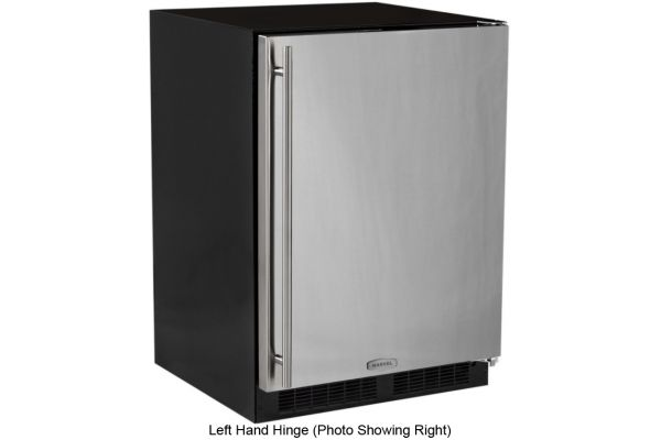 """Large image of Marvel 24"""" Stainless Steel Left Hand Hinge Compact Freezer - ML24FAS1LS"""