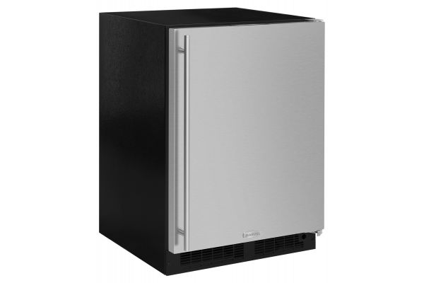 """Large image of Marvel 24"""" Stainless Steel Undercounter Compact Refrigerator With Ice Maker - ML24RIS4RS"""