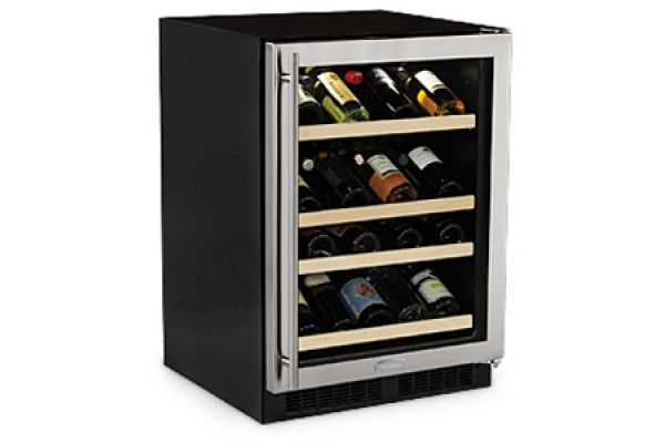 """Large image of Marvel 24"""" High Efficiency Gallery Stainless Frame Right-Hinge Single Zone Wine Refrigerator - ML24WSG1RS"""