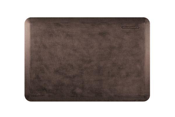 Large image of WellnessMats Linen Collection 3x2 Antique Dark Mat - ML32WMRDB