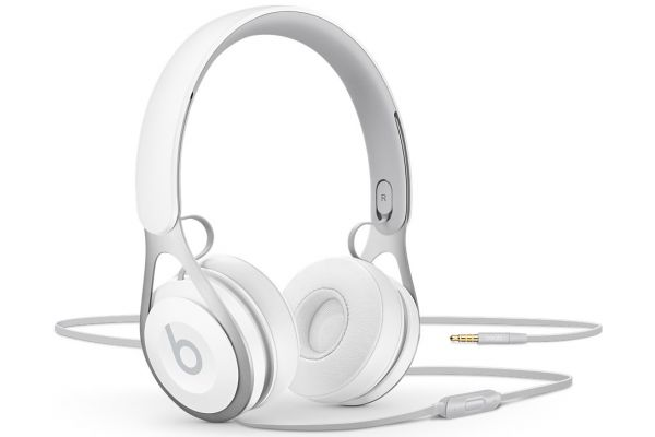 Large image of Beats By Dr. Dre EP White On-Ear Wired Headphones - ML9A2LL/A