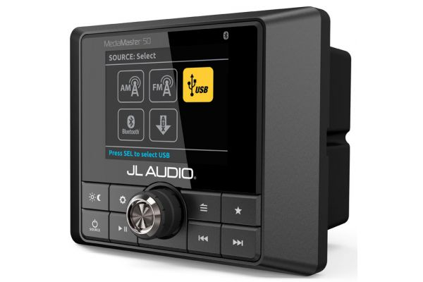 Large image of JL Audio Black Weatherproof Source Unit With Full-Color LCD Display - 99911 - 99911