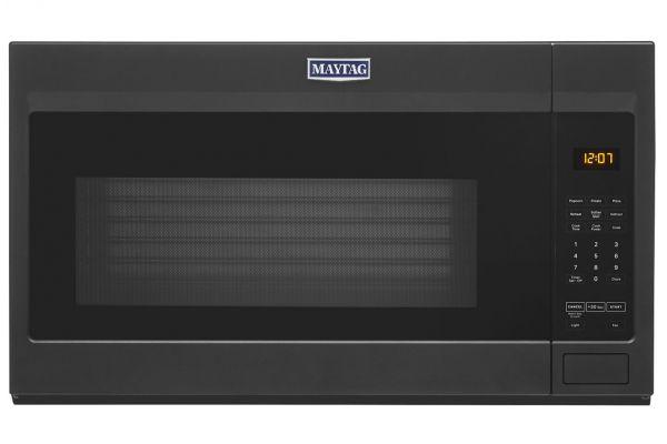 Large image of Maytag 1.7 Cu. Ft. Cast Iron Black Over-The-Range Microwave - MMV1175JK